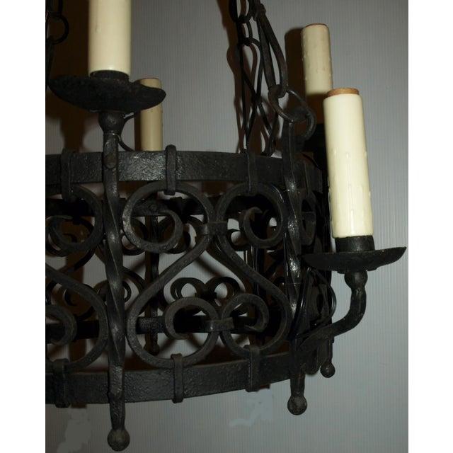 Antique Chandelier. Iron Chandelier - Image 4 of 7
