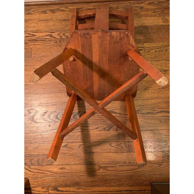 Mid-Century Modern Primitive Pair of Cherrywood Side Chairs in the Manner of Jean Touret For Sale - Image 3 of 11