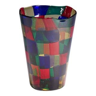 1968 Fulvio Bianconi Vase Pezzato Parigi, Venini Ca For Sale
