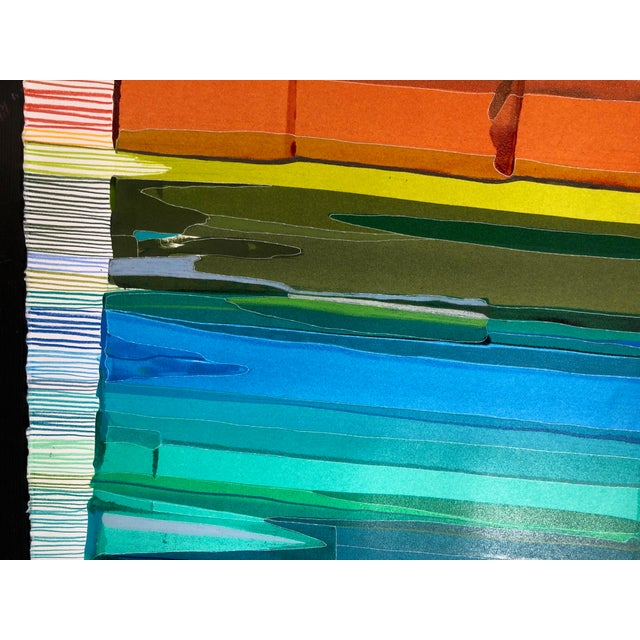 """Contemporary """"Chromatic Scale"""" Contemporary Abstract Acrylic Painting on Paper by Jess Csanky For Sale - Image 3 of 5"""