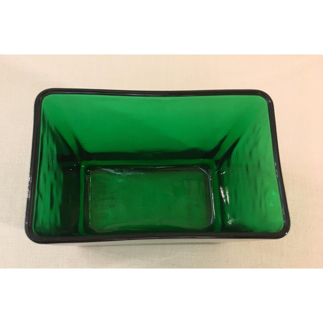 Mid-Century Emerald Green Glass Planter - Image 4 of 11