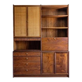 1960s Drexel Declaration Bookcase/Hutch For Sale