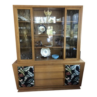 1940's Vintage Breakfront Cabinet For Sale