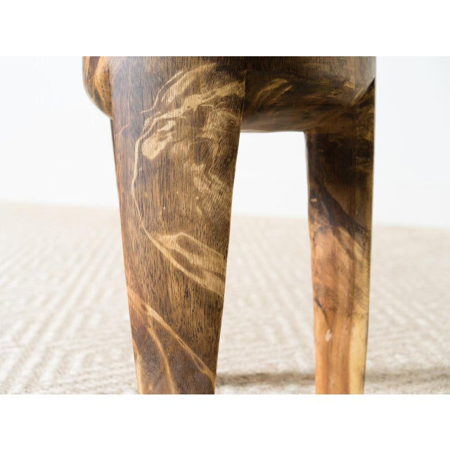 Contemporary Wila Mango Wood Stool For Sale - Image 3 of 5