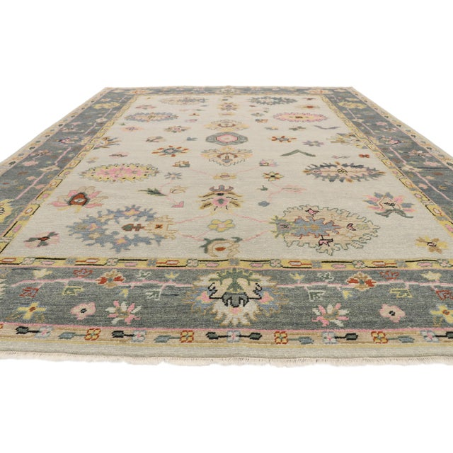 Contemporary Contemporary Oushak Transitional Area Rug - 9′ × 12′7″ For Sale - Image 3 of 10