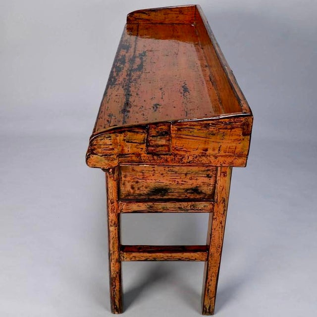 Chinese Painted and Lacquered Three-Drawer Console Table For Sale In Detroit - Image 6 of 11