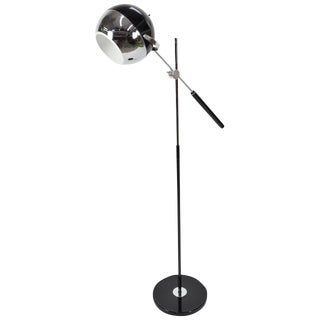 George Kovacs Attributed Adjustable Chrome Floor Lamp For Sale