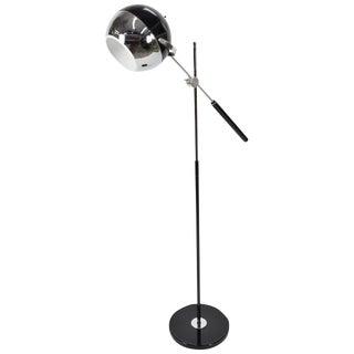 George Kovacs Attributed Adjustable Chrome Floor Lamp For Sale