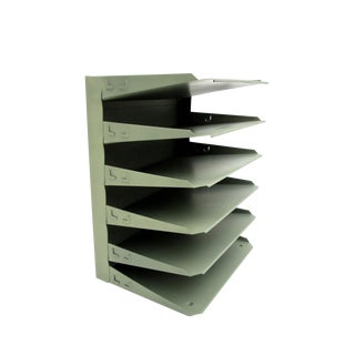 Mid-Century Industrial 6-Tier Steelcase File Rack