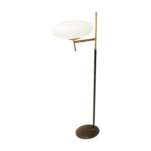 Floor Opaline Lamp in Style of Stilnovo, Italy, 1950s For Sale
