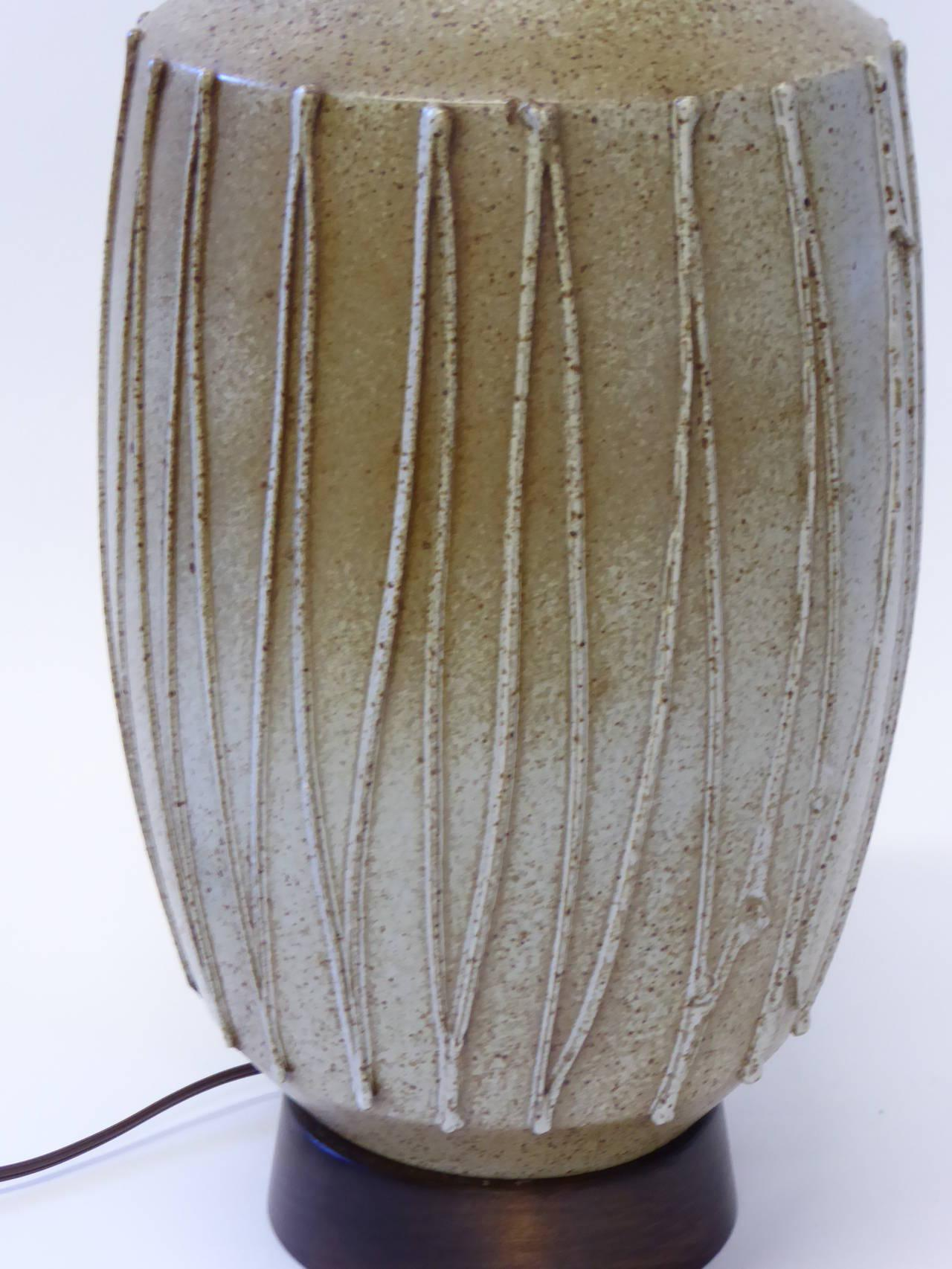 1960s David Cressey Pottery Table Lamp   Image 6 Of 10