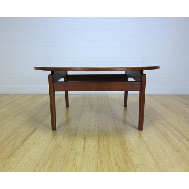 Jens Risom Mid-Century Jens Risom Laminate & Walnut T-336 Coffee Table For Sale - Image 4 of 9