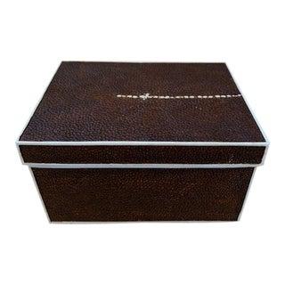 Heavy Faux Shagreen Box For Sale