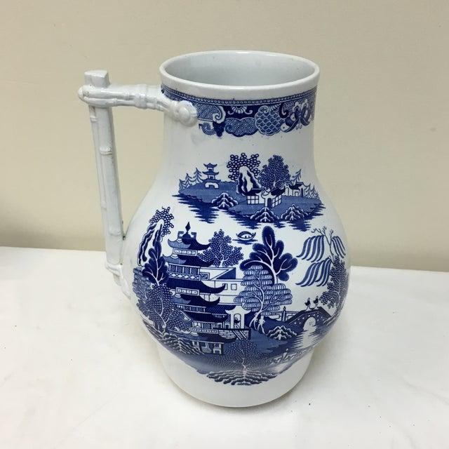 Vintage Blue Willow Vase For Sale - Image 5 of 9