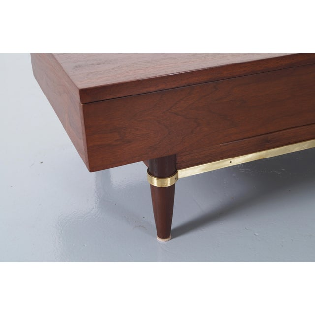 Danish Modern Merton Gershun for American of Martinsville Walnut Bench For Sale - Image 3 of 6