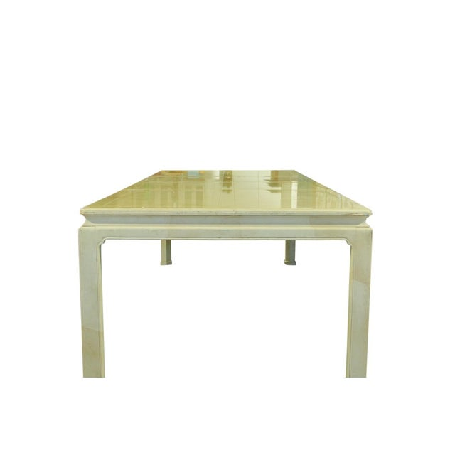 Asian 1960s Ming Henredon Table With Faux Marble Top For Sale - Image 3 of 7