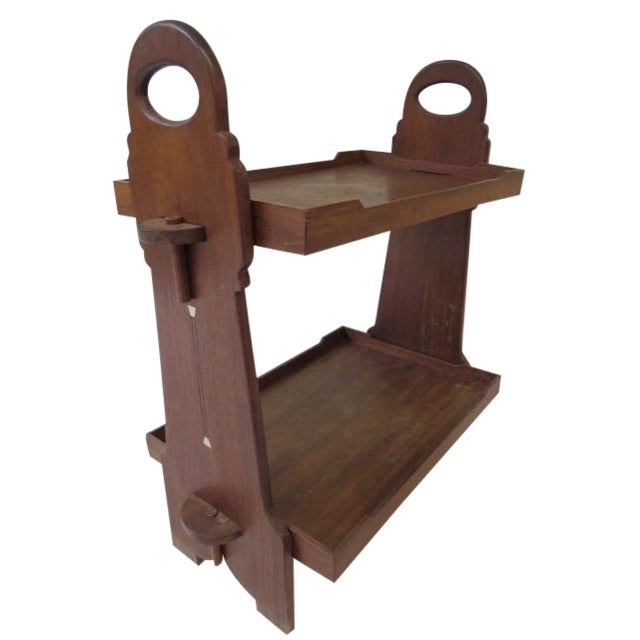 On Hold 1920s Trestle Side Table - Image 1 of 7
