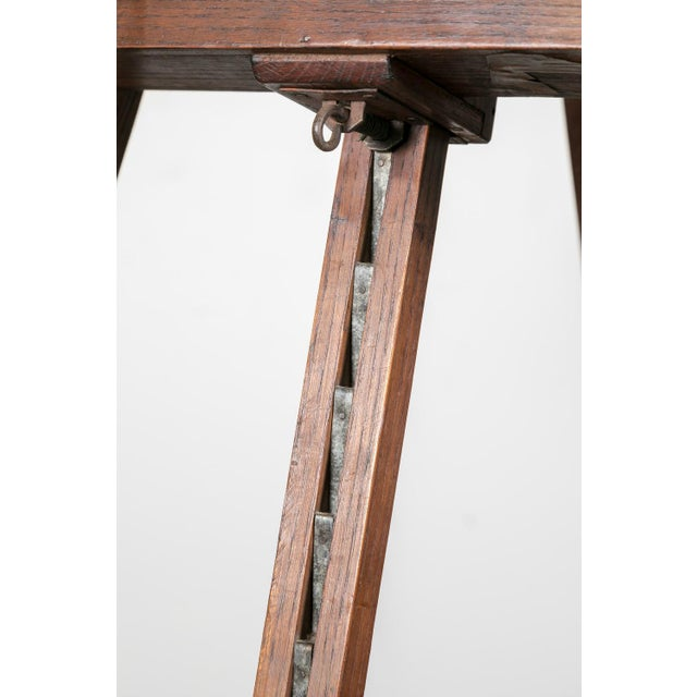 20th Century French Adjustable Oak Painters Easel For Sale In Birmingham - Image 6 of 10