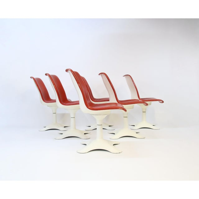 Mid-Century Modern Mid Century Modern Yrjo Kukkapuro for Haimi, Finland Leather Dining Chairs- Set of 6 For Sale - Image 3 of 8