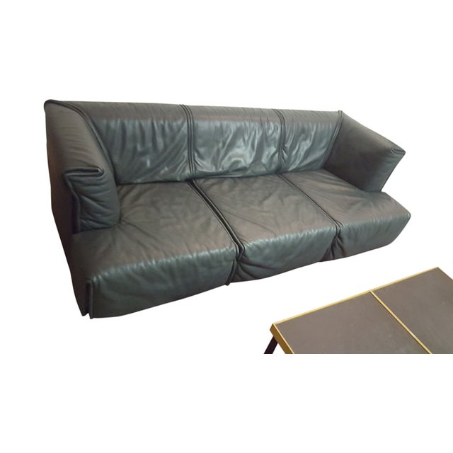 Italian Modern Leather Couch - Image 5 of 5