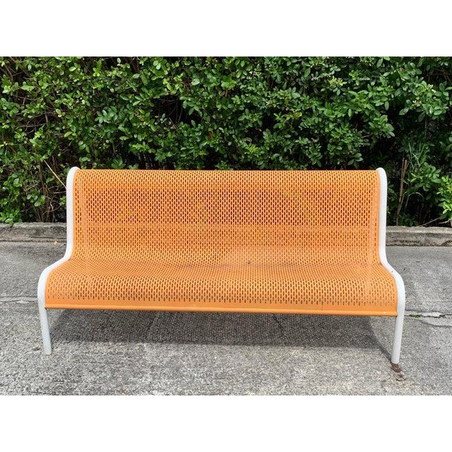 Modern Miami Modern Wrought Iron Sculptural Long Bench For Sale - Image 3 of 11