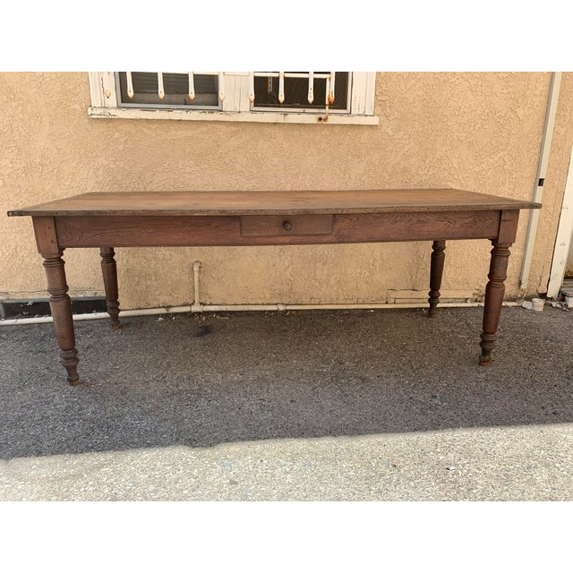 Antique French Farm House Dining Table For Sale In Los Angeles - Image 6 of 6