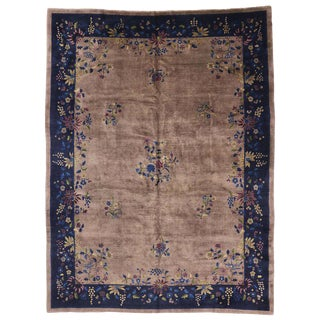 Early 20th Century Antique Chinese Peking Rug - 10′1″ × 13′5″ For Sale