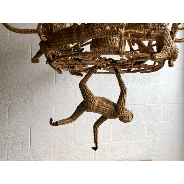 Late 20th Century Mario Lopez Torres Palm Tree Chandelier For Sale - Image 5 of 9