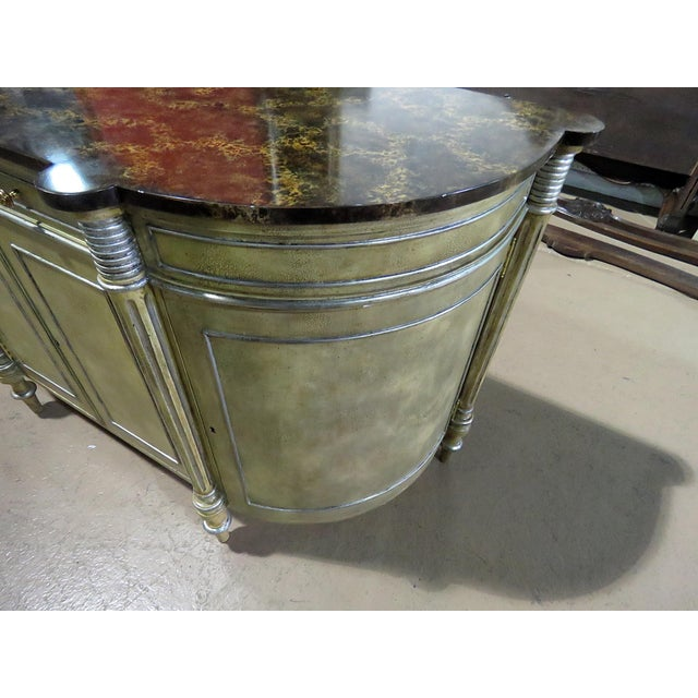 Maitland - Smith Maitland Smith Faux Marble Top Commode For Sale - Image 4 of 13