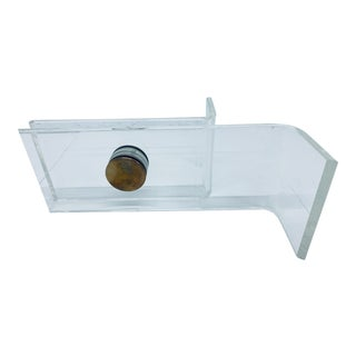 Lucite and Brass Coffee Table Base Attributed to Karl Springer For Sale