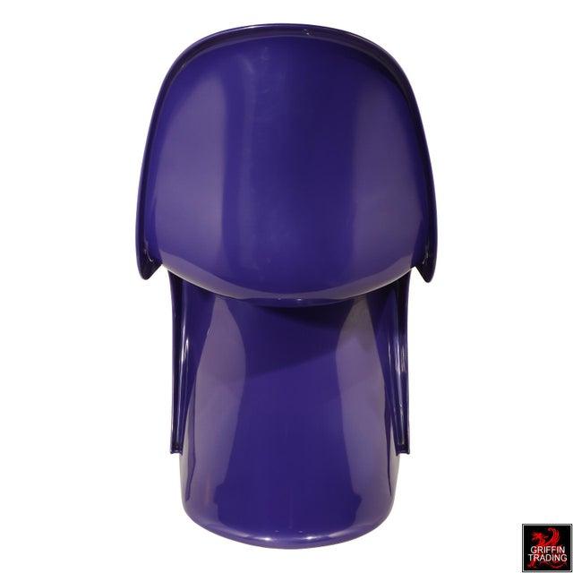 Herman Miller Purple Verner Panton S-Chair Fehlbaum Production For Sale - Image 4 of 11