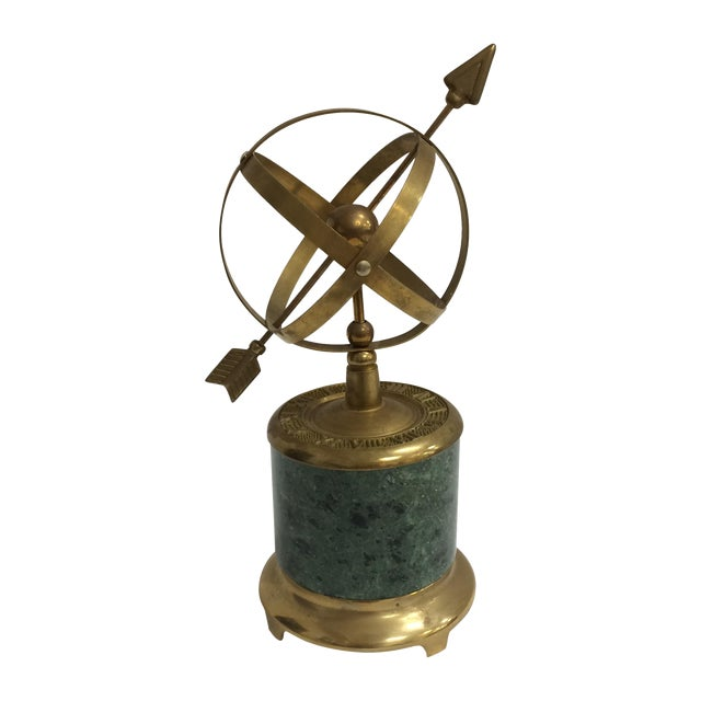 Vintage Brass and Marble Armillary - Image 1 of 10