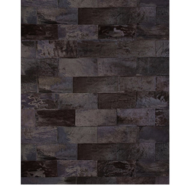 Modern Brick Leathers Rug From Covet Paris For Sale - Image 3 of 3