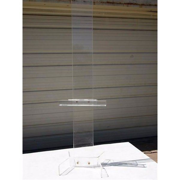 Modern Transparent Plexi-Glass Italian Easel - Image 2 of 4