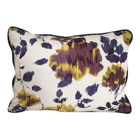 Kim Salmela Purple Floral Pillow For Sale