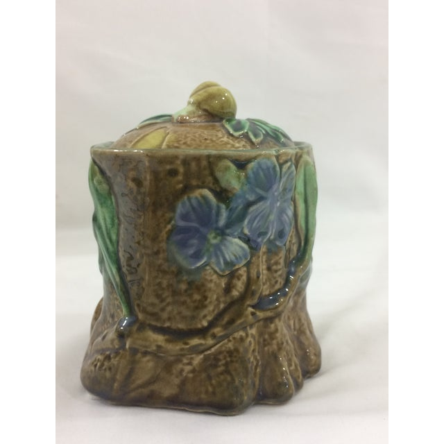 French 19th Century Tobacco Jar With Floral Design and Snail For Sale - Image 9 of 9