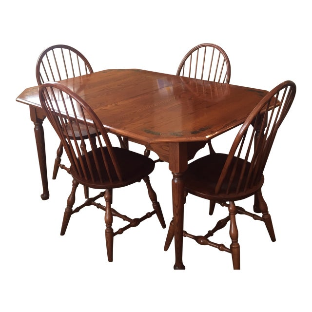 L. Hitchcock Classic Briarcliffe Extension Dining Set For Sale