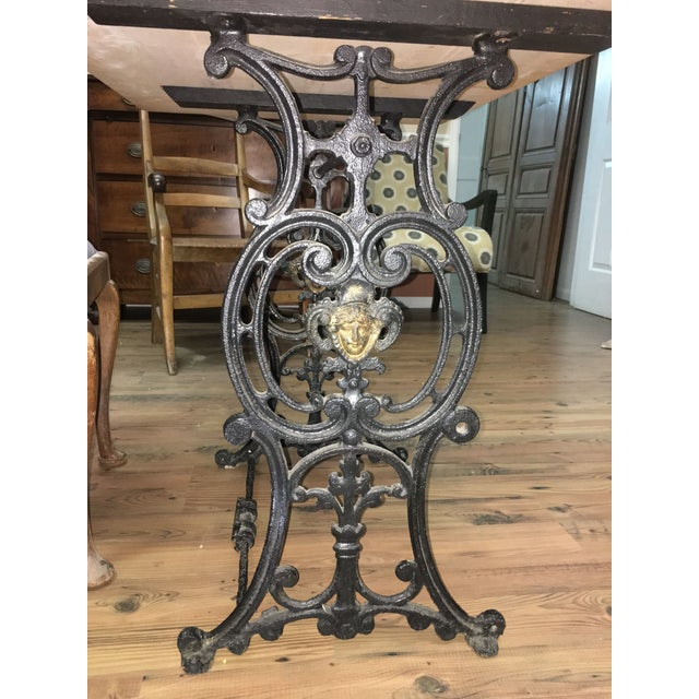 20th Century French Marble & Cast Iron Bistro Table For Sale In Denver - Image 6 of 12