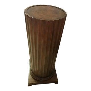 Vintage Burl Wood Pedestal