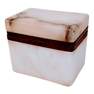 Early 20th Century Antique Alabaster Marble Box For Sale