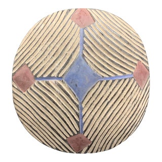 South African Tribal African Art Zulu Round Shield For Sale