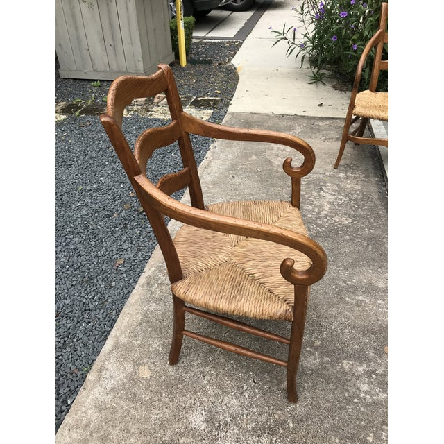 Tan 1980s Charles X Style Armchairs - Set of 6 For Sale - Image 8 of 9
