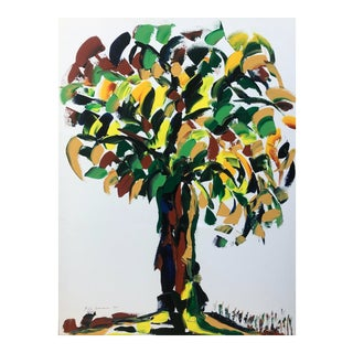 Large Barbara DeSassure Modern Tree Oil Painting For Sale