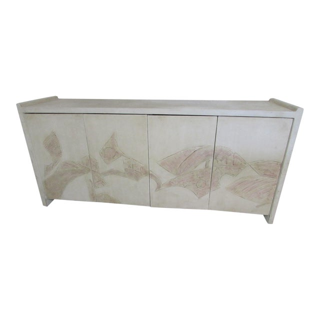 1980's Bass Relief Plaster Cabinet by Bardol - Image 1 of 5