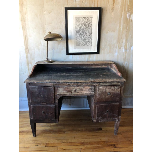 Rustic Tuscan Office Desk For Sale - Image 4 of 11