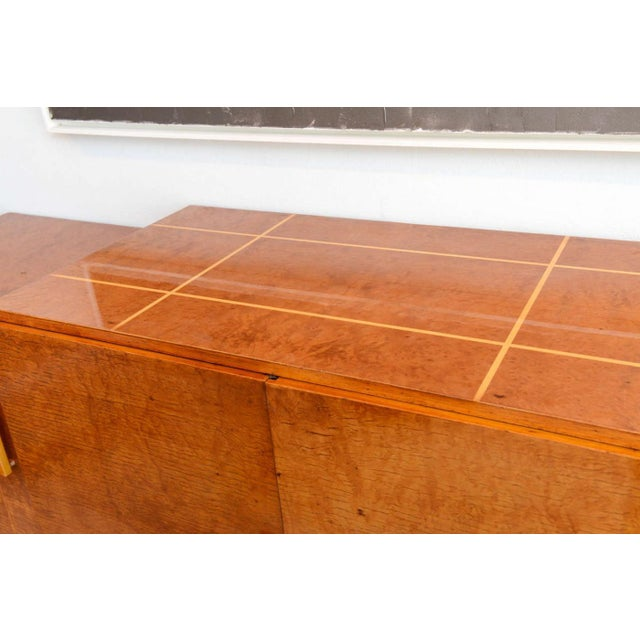 Art Deco Late Art Deco Birds-Eye Maple and Maple Inlaid Credenza, Eli Jacques Kahn For Sale - Image 3 of 7