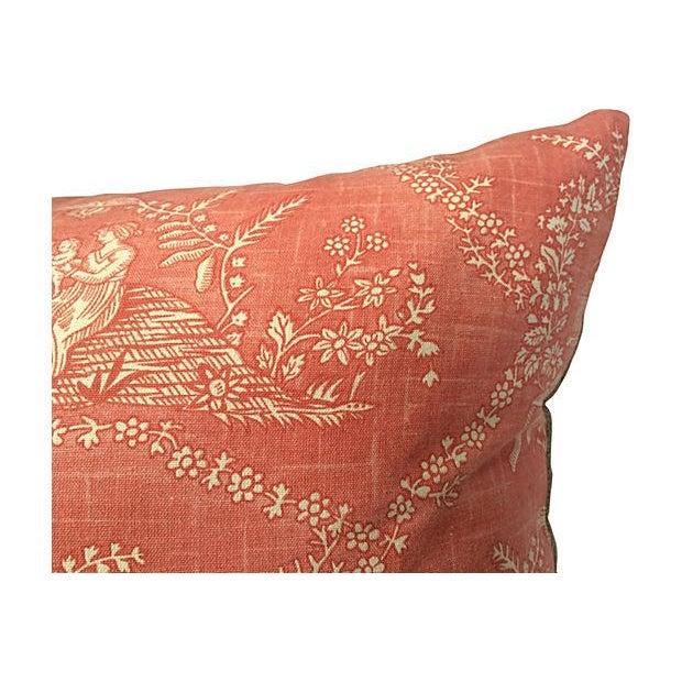 English Jane Austen Toile Pillow - Image 4 of 5