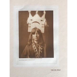 Early 20th Century Edward S Curtis Portrait Photograph Albumen Print For Sale