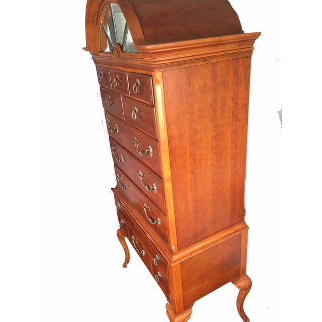 Traditional 1950s Traditional Lexington Wooden Highboy For Sale - Image 3 of 13