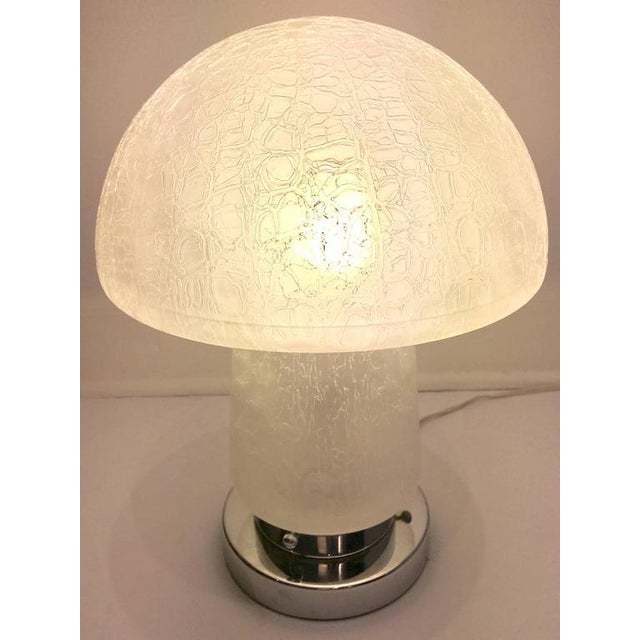 Italian Murano Glass and Chrome Mushroom Lamp - Image 3 of 8